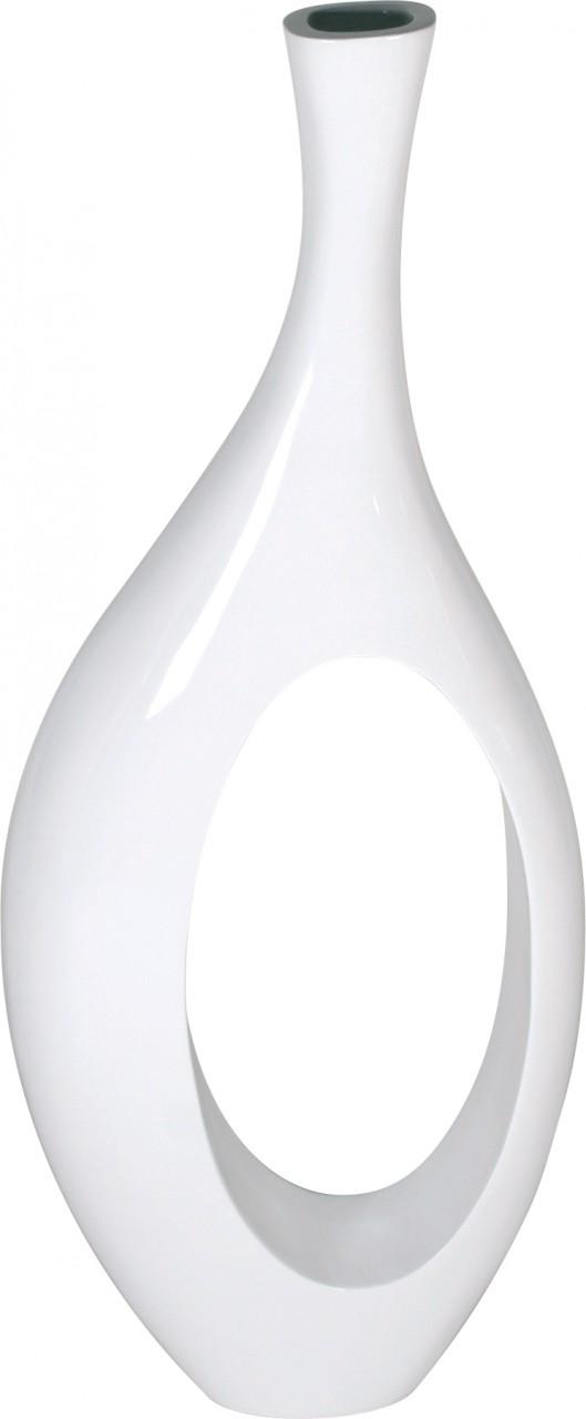 INDIGO Vase, 35x11/86 cm, weiß hochglanz