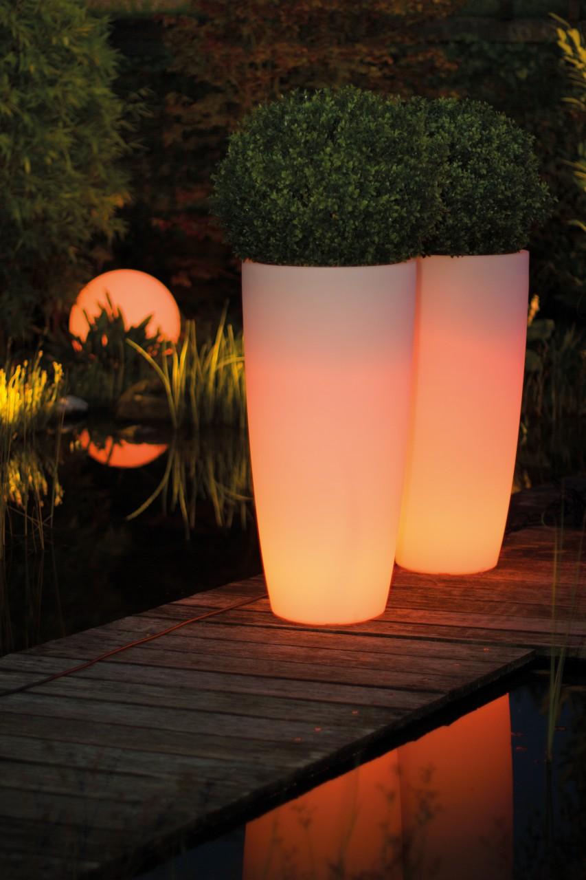 LUMENIO LED Pflanzgefäß, 43/90 cm, multicolor